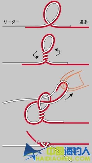 海钓鱼钩的绑法图解鱼线结汇总---主线与子线的连接
